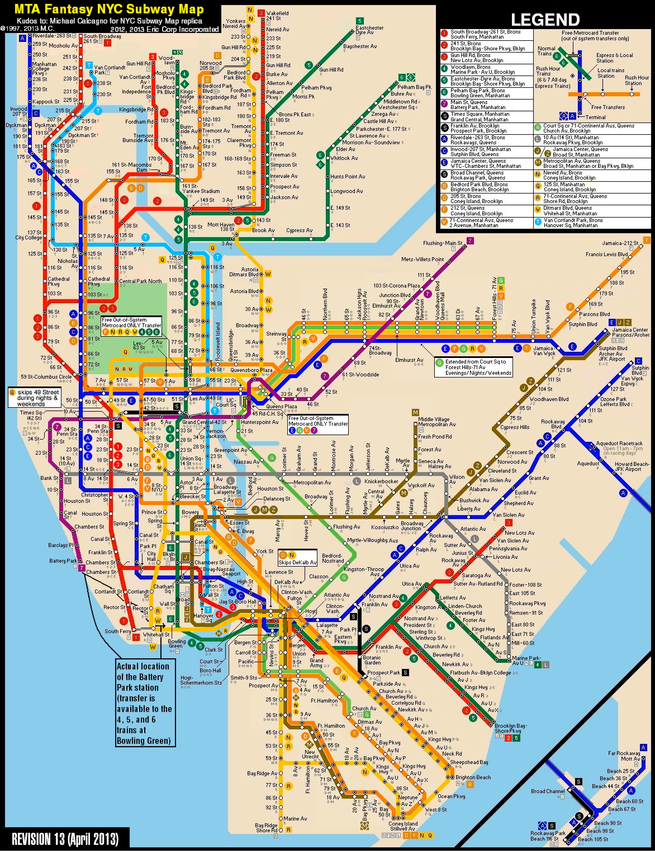 Map ny Metro