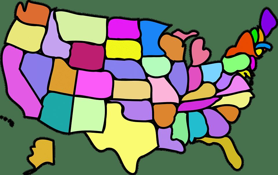 Map of America Cartoon