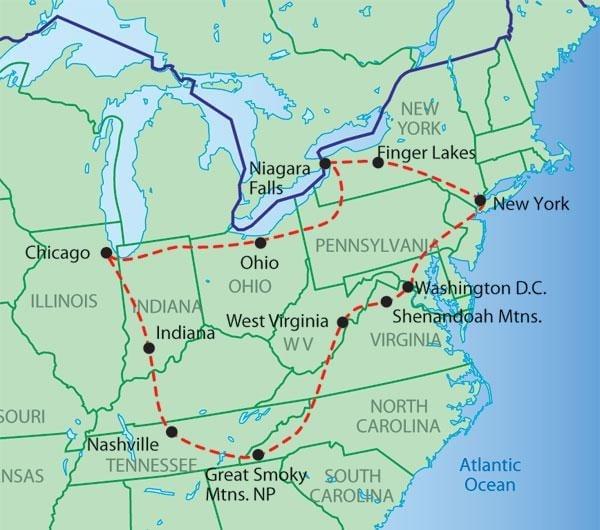 Map of America East