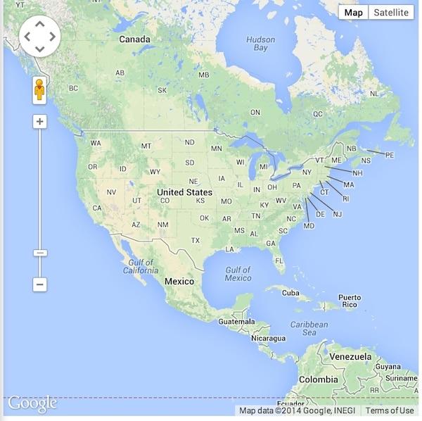 Map of America Google