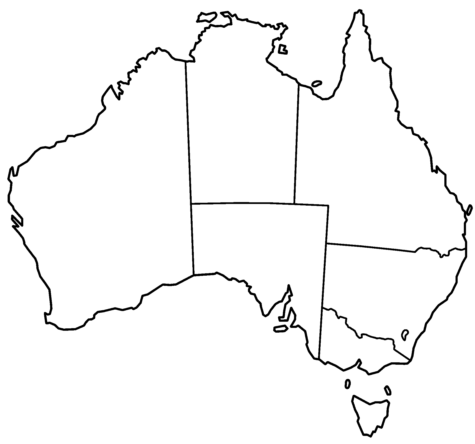 Map of Australia Blank