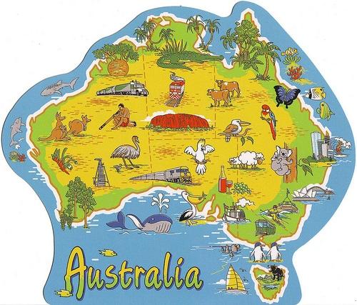 Map of Australia Cartoon