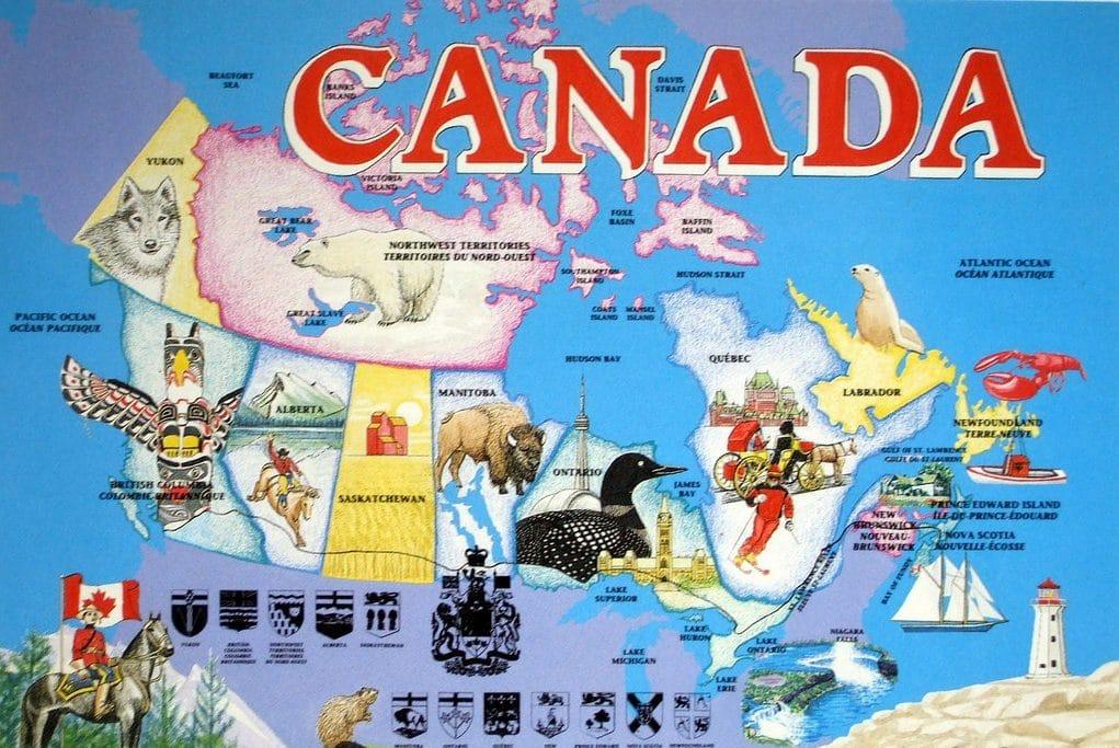 Map of Canada Cartoon