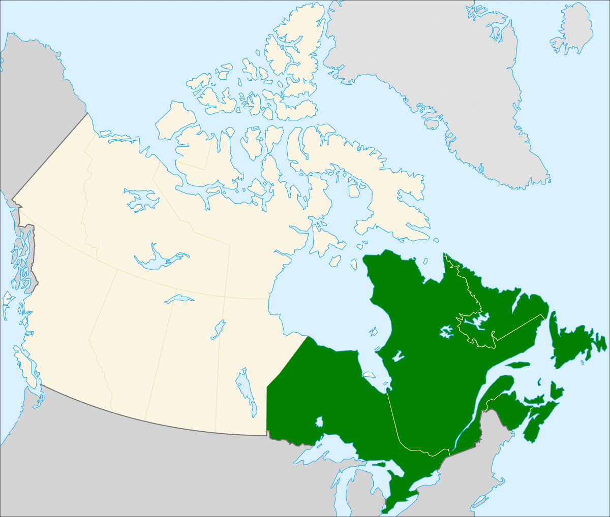 Map of Canada East