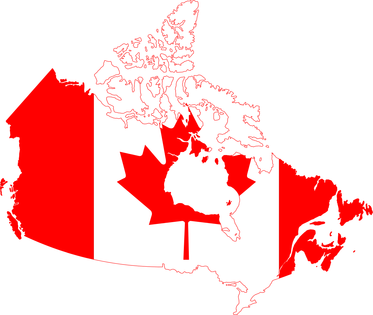 Map of Canada Flag