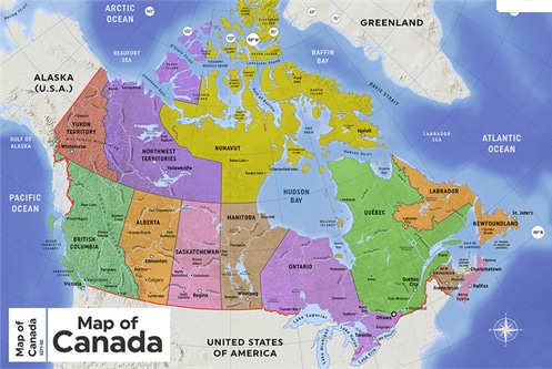 Map of Canada French