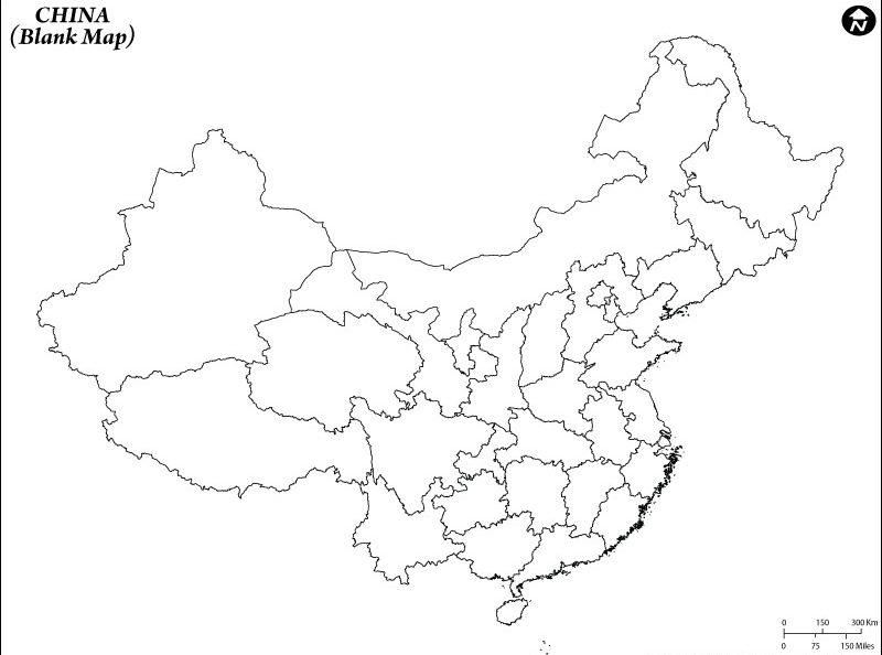 Map of China Blank