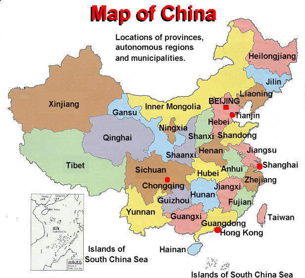 Map of China Cities