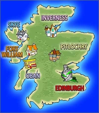 Map Of England Cartoon
