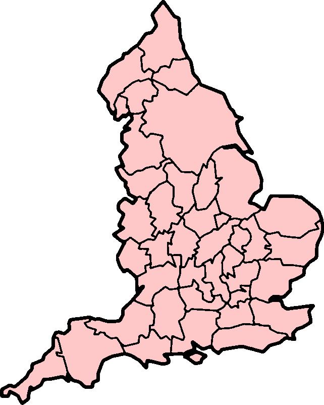 Map of England Clip art
