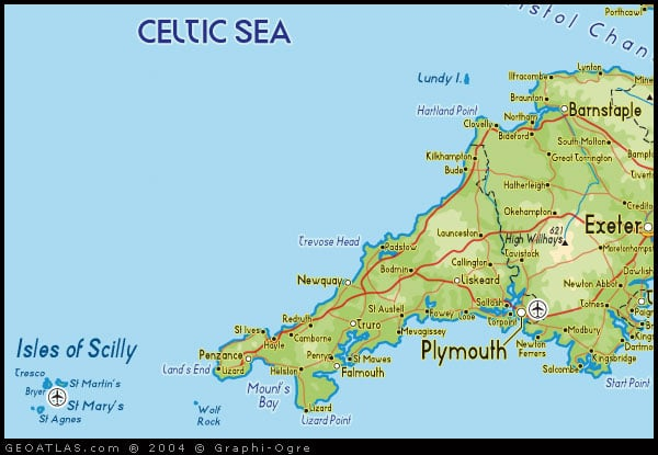 Map of England South West