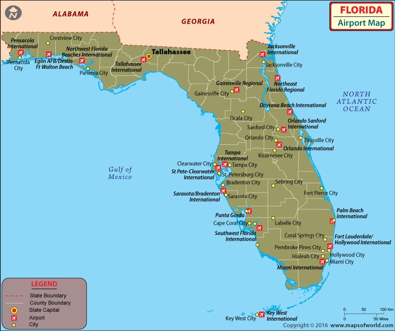 Map of Florida Airport