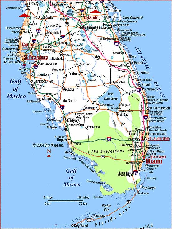 Map of Florida Highway