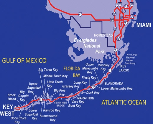 Map of Florida Key