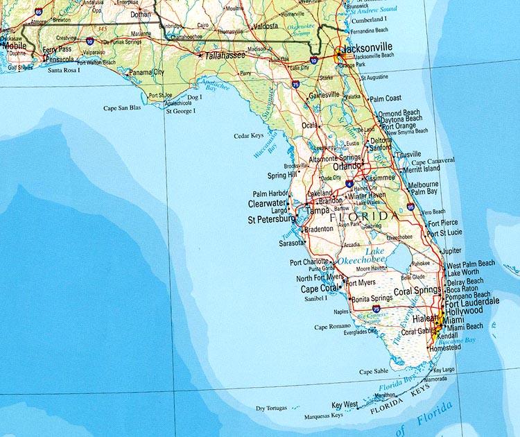 Map of Florida States