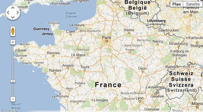 Map of France Google