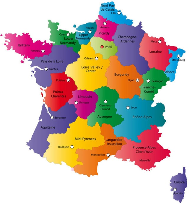 Map of France Image