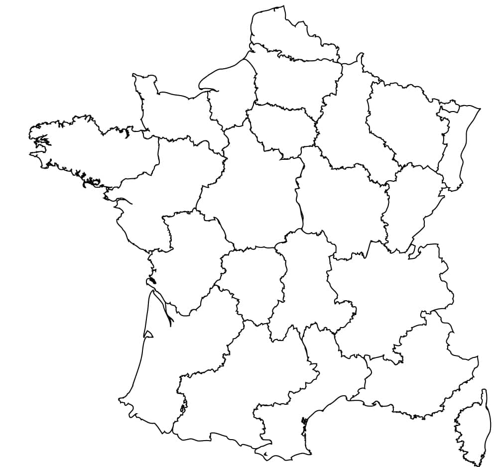 Map of France Outline