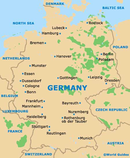 Map of Germany Airport