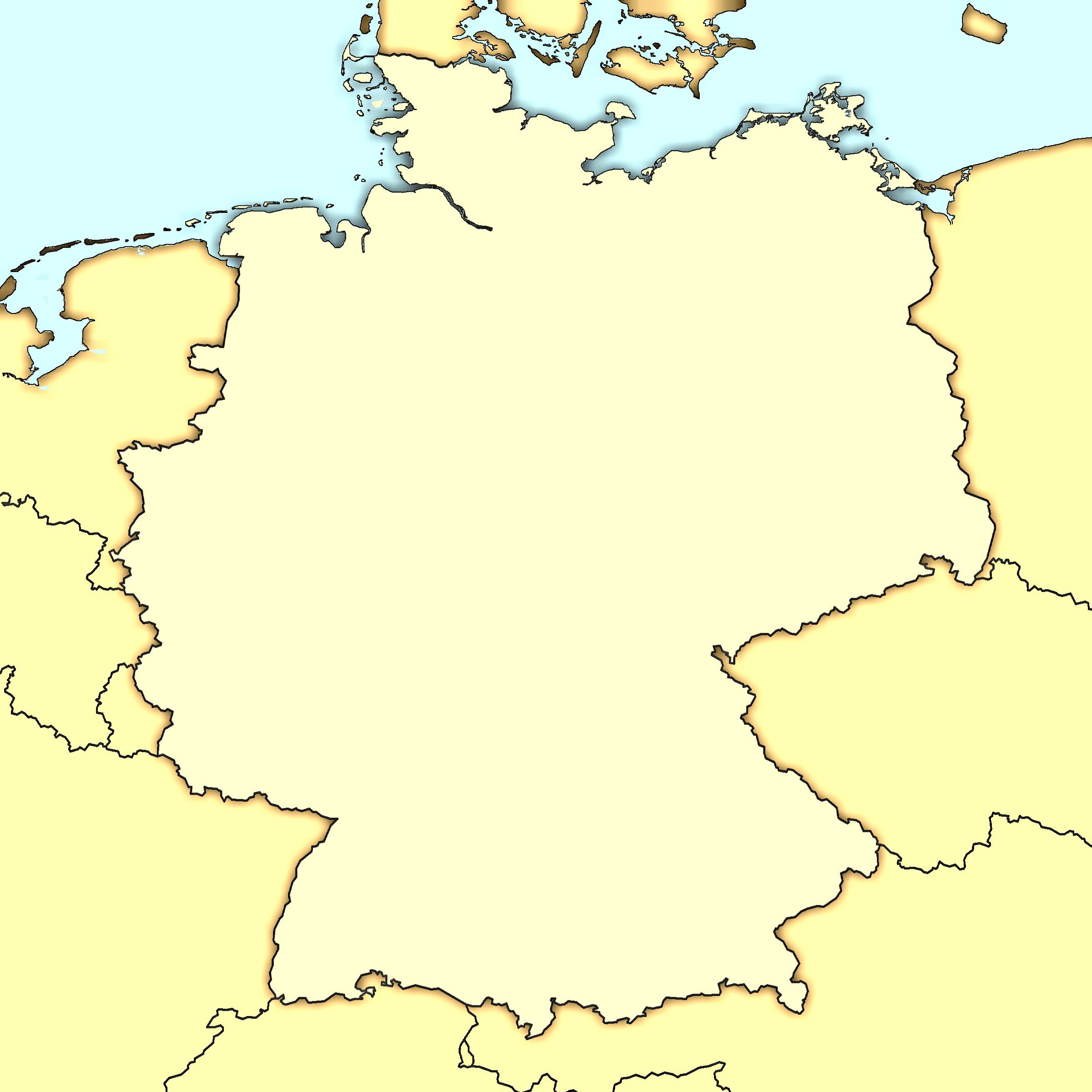 Map of Germany Blank