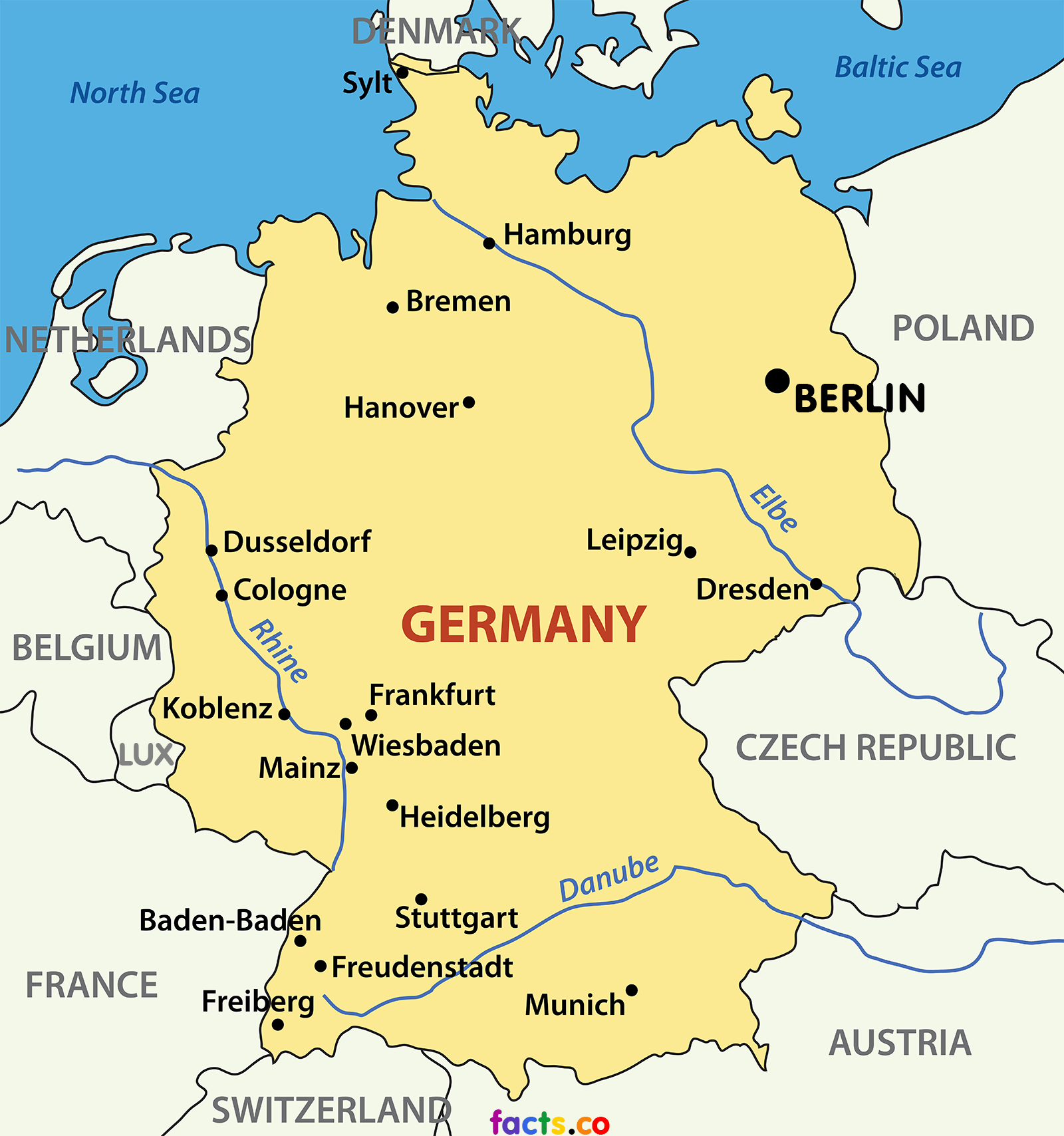 Map of Germany Cities