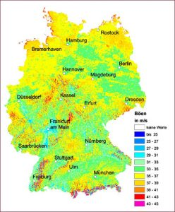 Map of Germany Climate