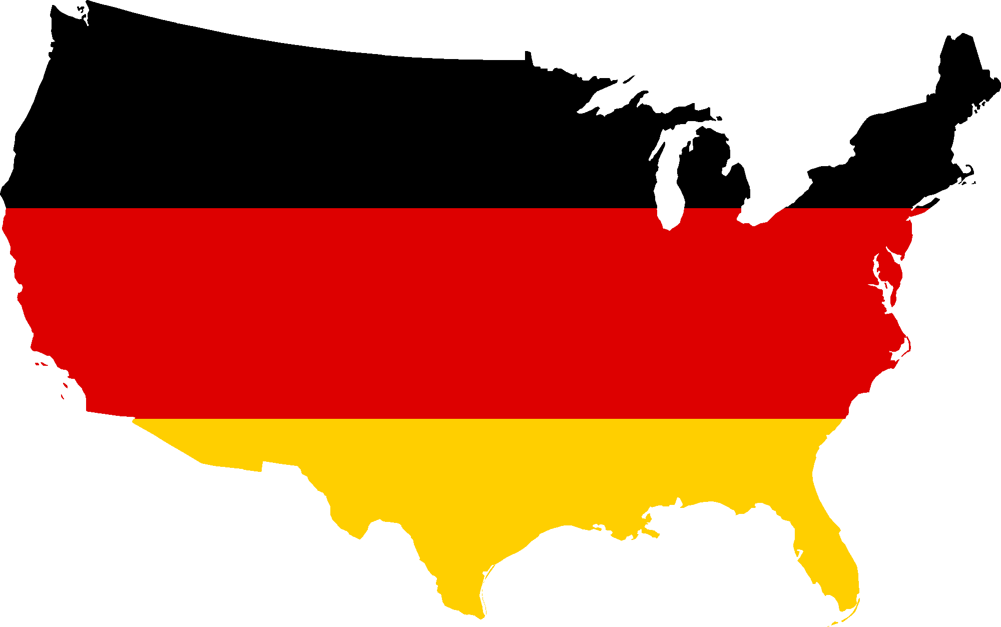 Map of Germany Clipart