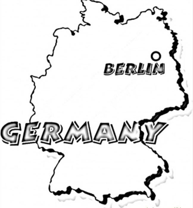 Map of Germany Coloring Page