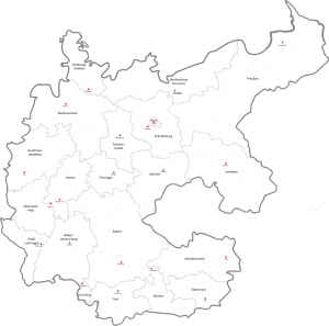 Map of Germany Drawing
