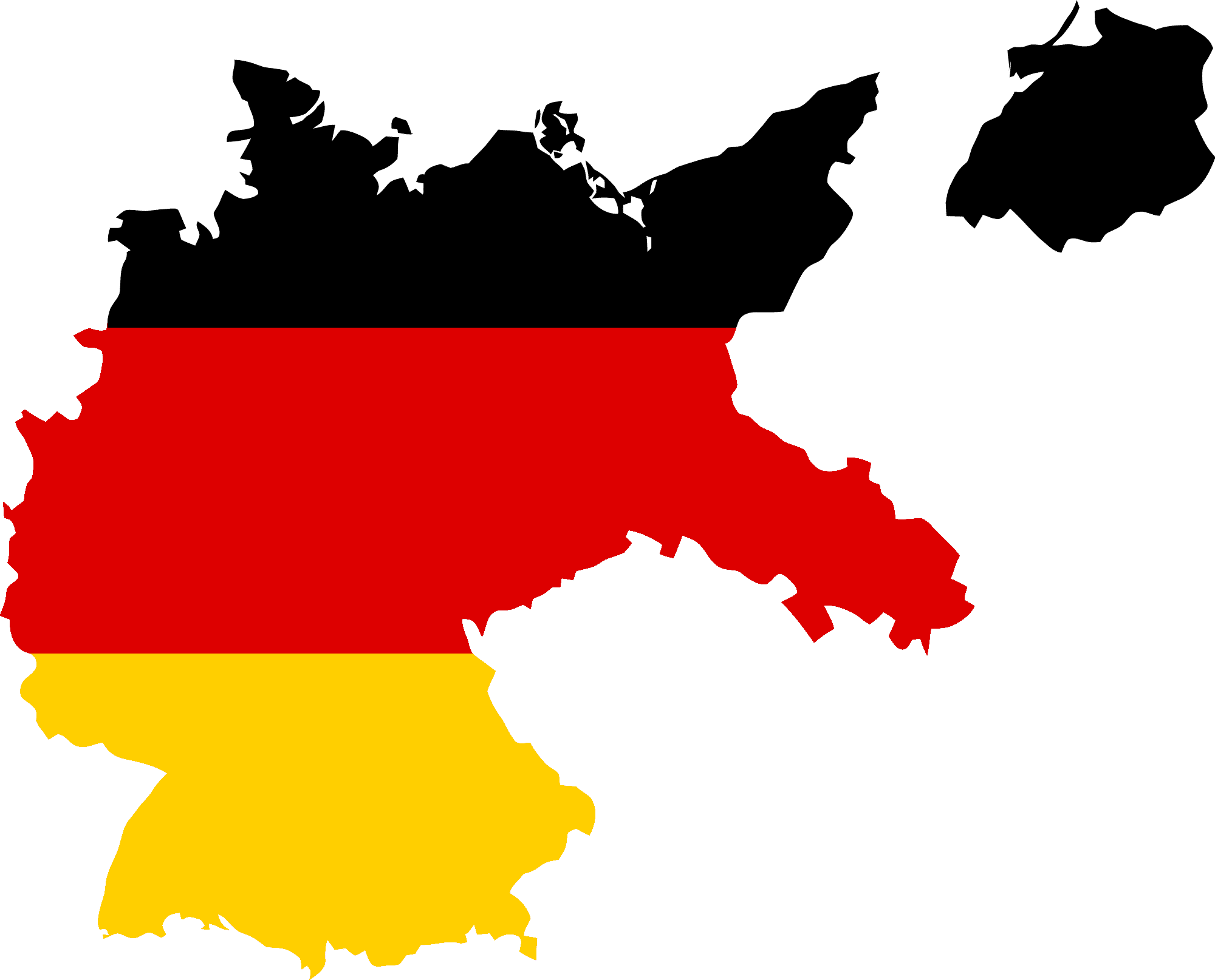 Map of Germany Flag