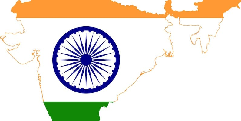 Map of India flag
