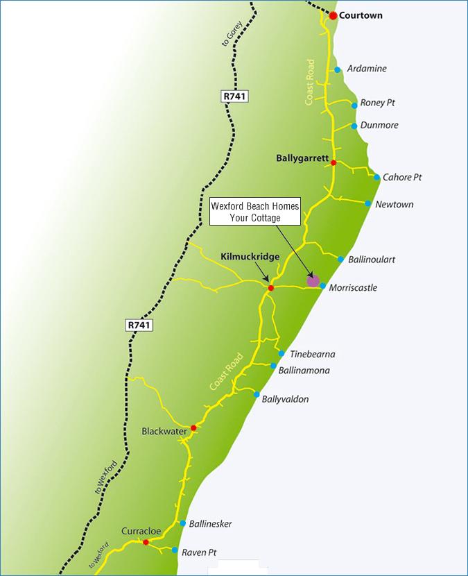 Map of Ireland Beaches