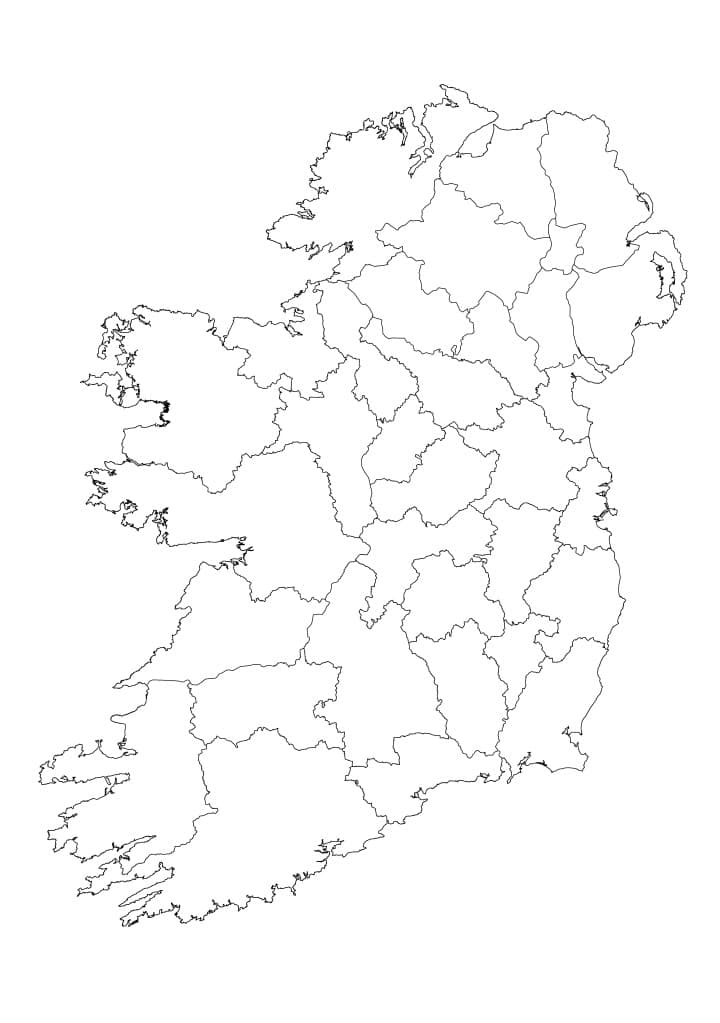 Map of Ireland Blank