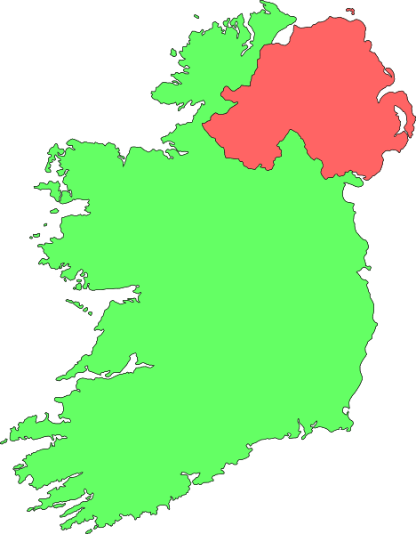 Map of Ireland Clipart