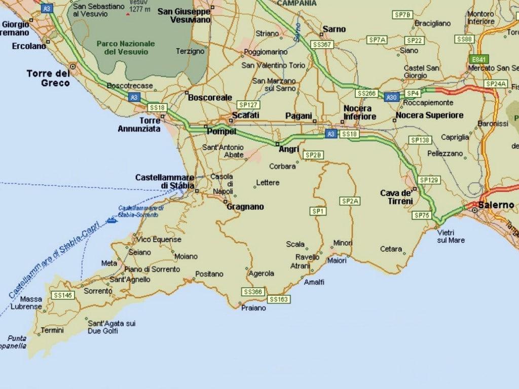 Map of Italy Coast