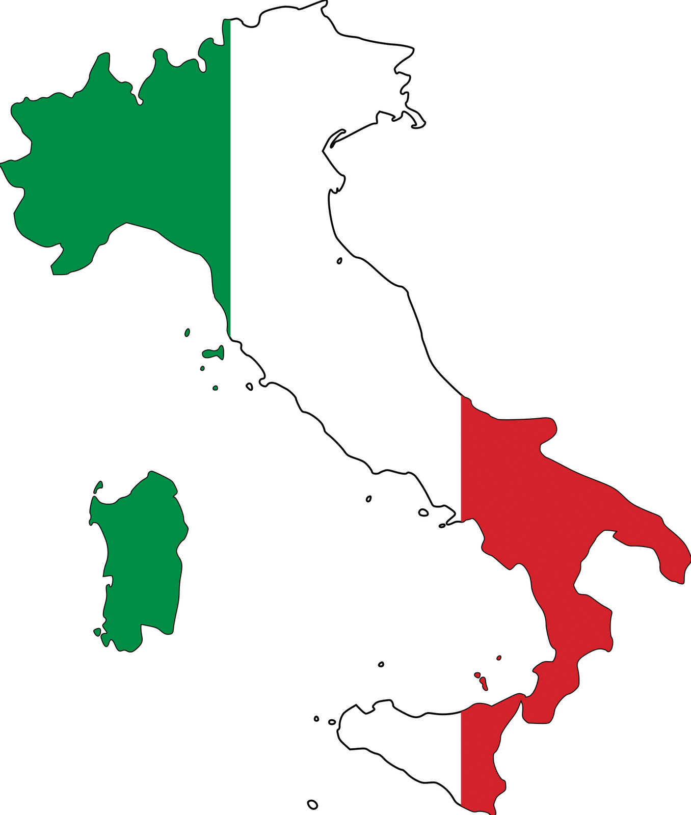 Map of Italy Drawing