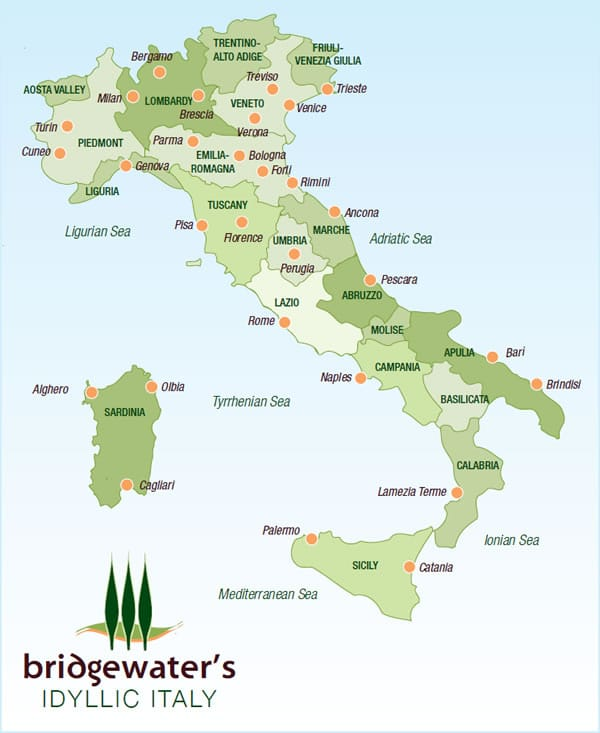 Map of Italy hd