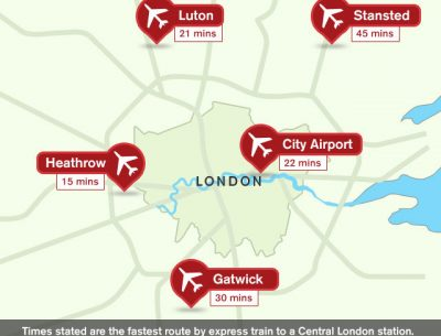 Map of London Airport