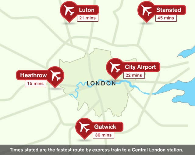 Map Of London Airports | Rtlbreakfastclub
