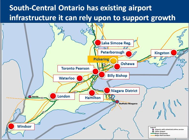Map of Ontario Airport