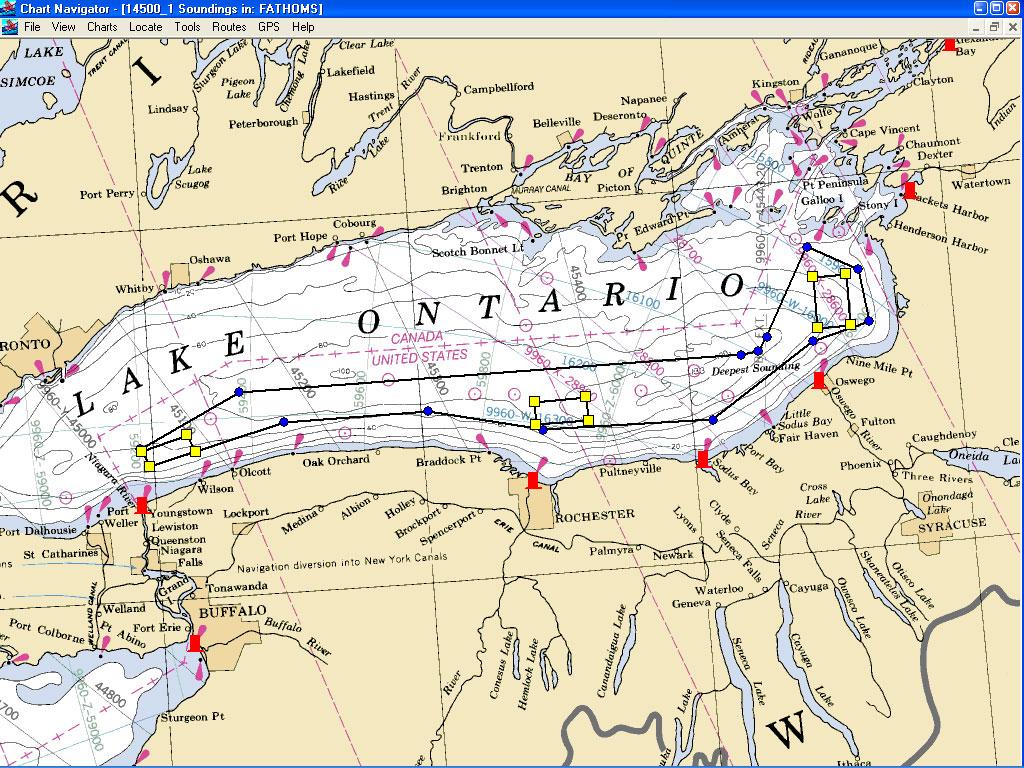 Map of Ontario Lake