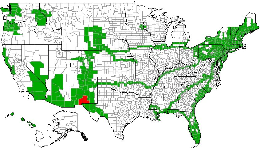 Map of USA Counties