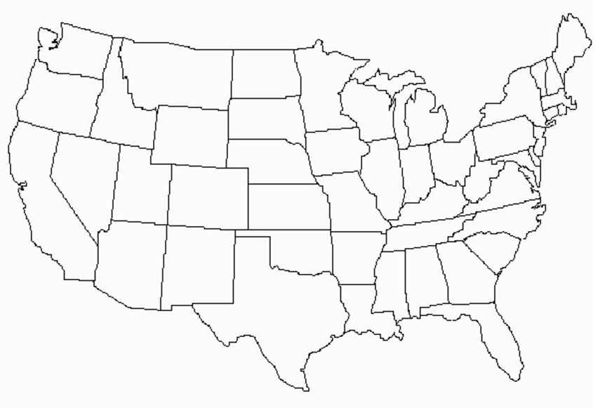 Free Download Map Of USA Free HD Images - Drawing of usa map