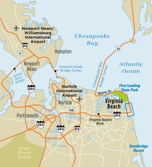 Map of Virginia Beach