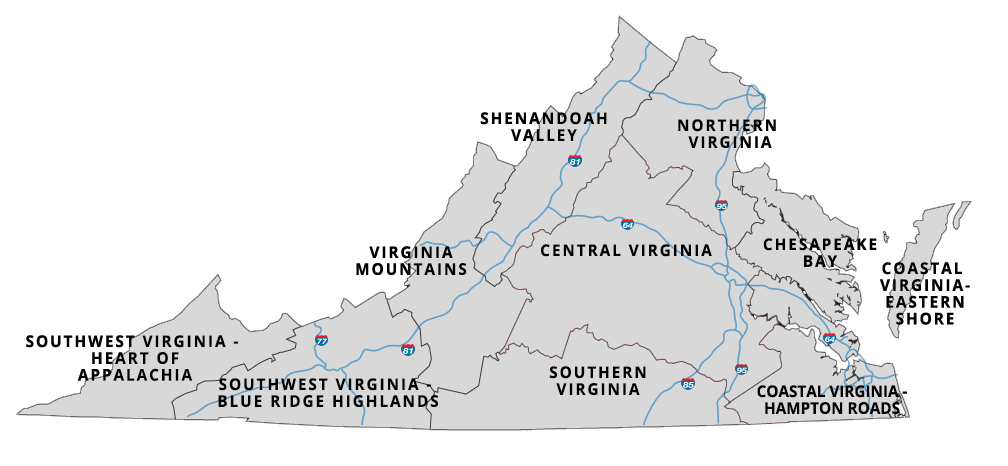 Map of Virginia Town