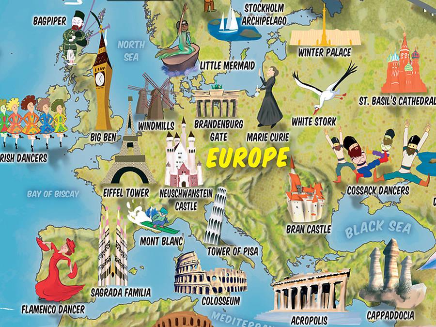 Map of World Cartoon