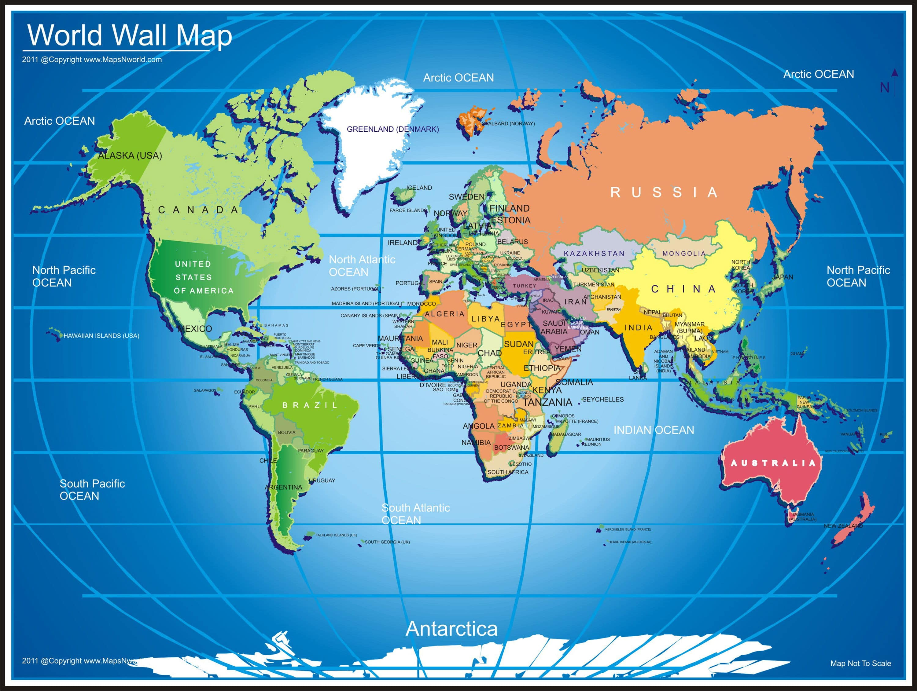 Map of World Hd