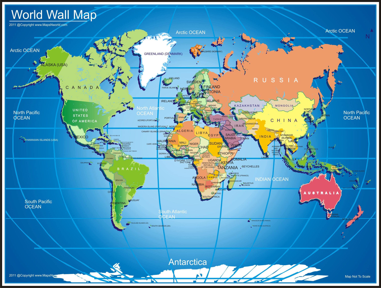 Map of World Hd