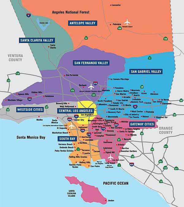 Map of la County