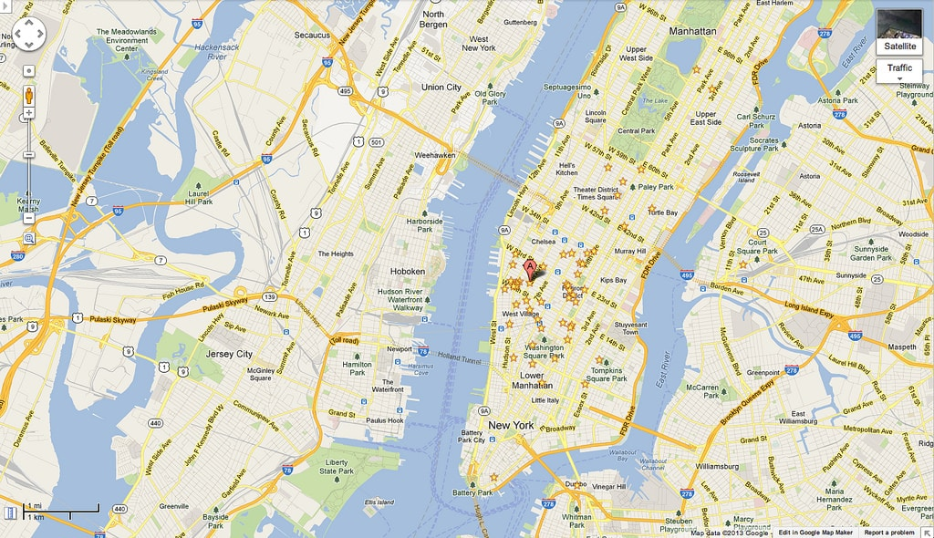 Map of nyc Google